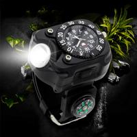 Jam Tangan Multifungsi LED Flashlight CREE dengan Kompas